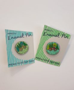 Let the Good Times Roll pin badges by Hello Memo