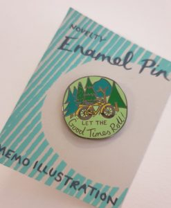 Let the Good Times Roll pin badge by Hello Memo