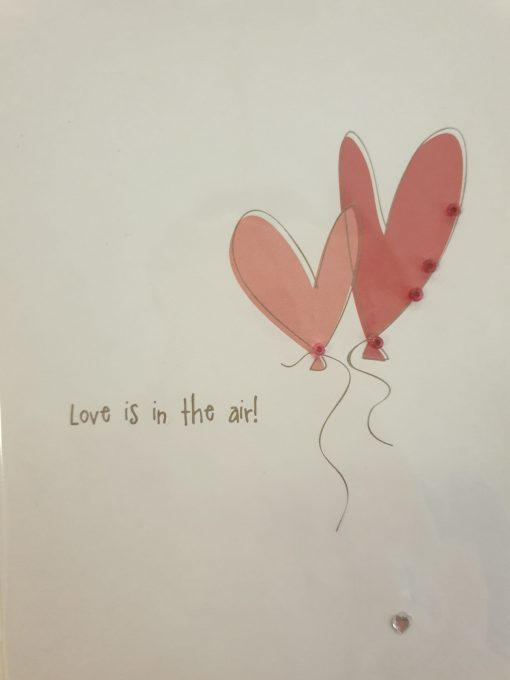 Love is in the air card by Carrie Ann Coupe