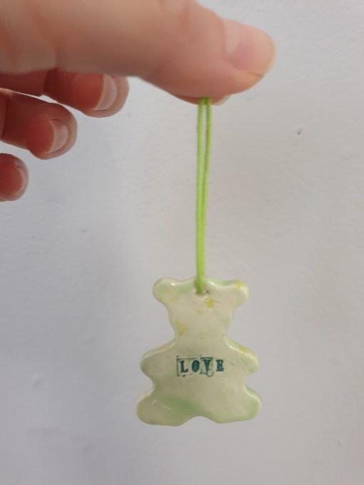 Ceramic love bear decoration