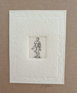 Gillian Tyler etching man card