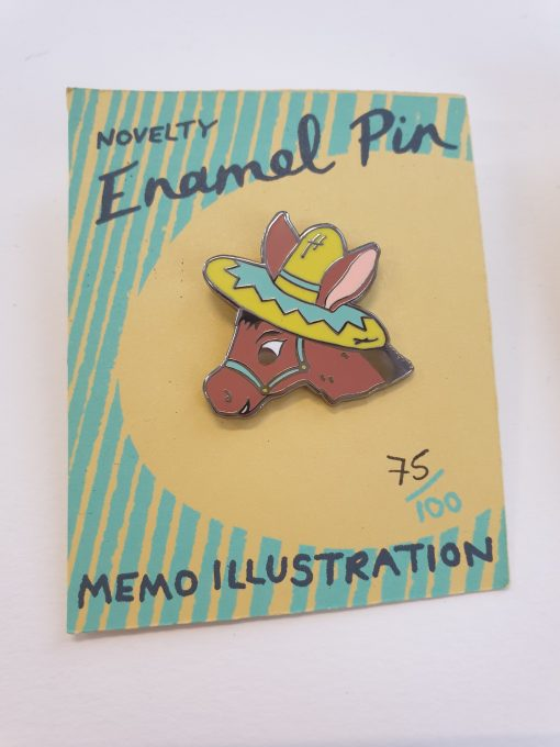 Donkey badge by Memo