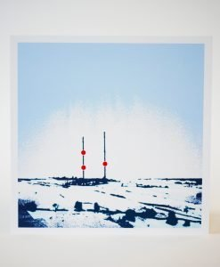 Imperial Cold III, Screen print on card by Dan Booth