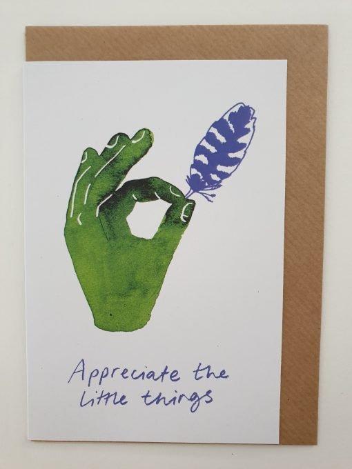 Appreciate the little things card by Jo Blaker