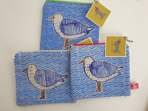 Seagull zip purses