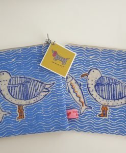 Sea gull and fish large purse