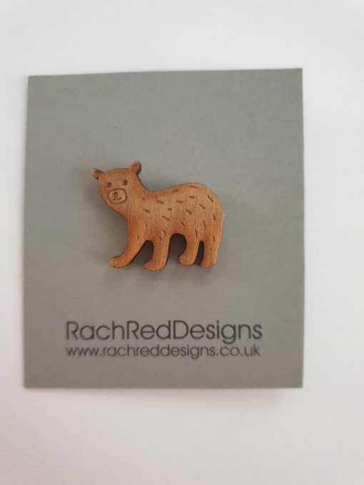 Baby bear brooch by Rach Red