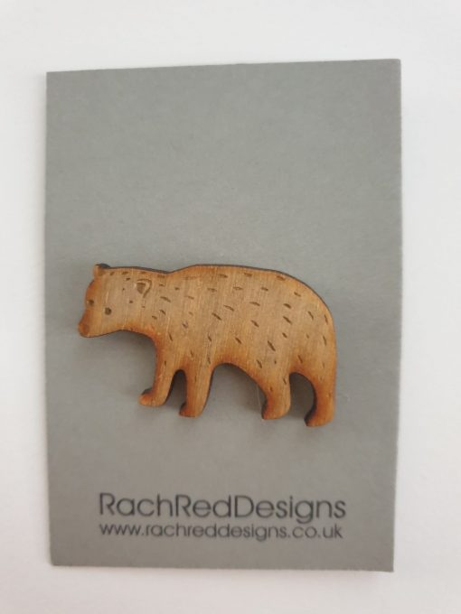 Mountain bear 2 brooch by Rach Red