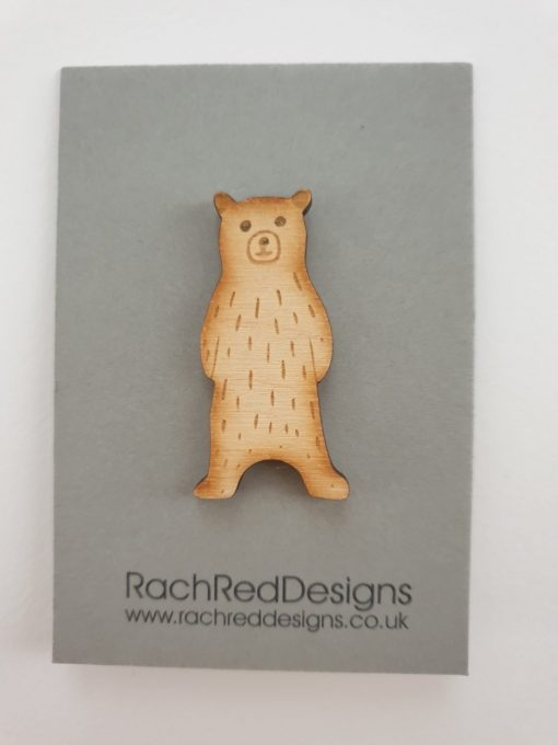 Mountain bear 1 brooch by Rach Red