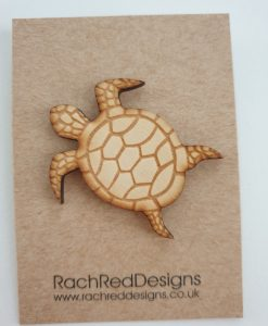 Turtle brooch by Rach Red