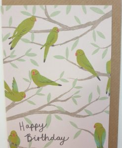 Happy birthday parakeets card by Stephanie Cole Designs