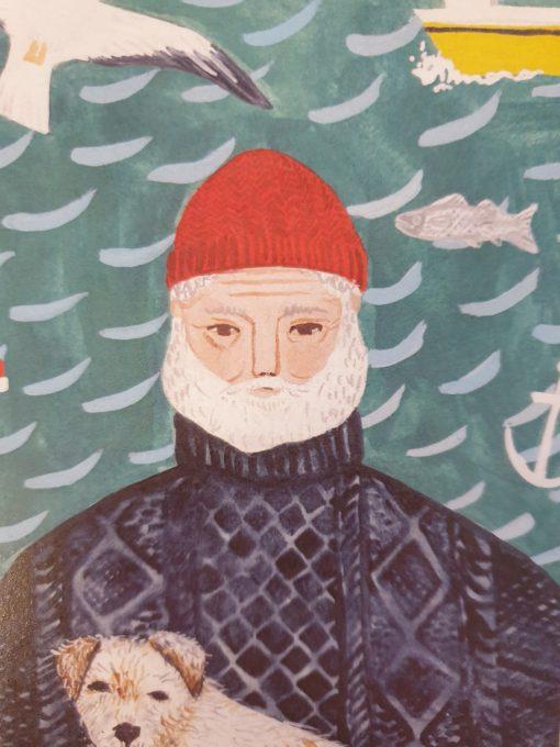 Fisherman card by Stephanie Cole Designs