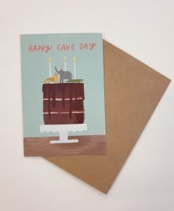 Happy cake day card by Stephanie Cole Designs