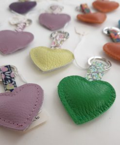 Leather heart keyrings by Teazle