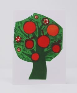 Apple Tree, printed on card