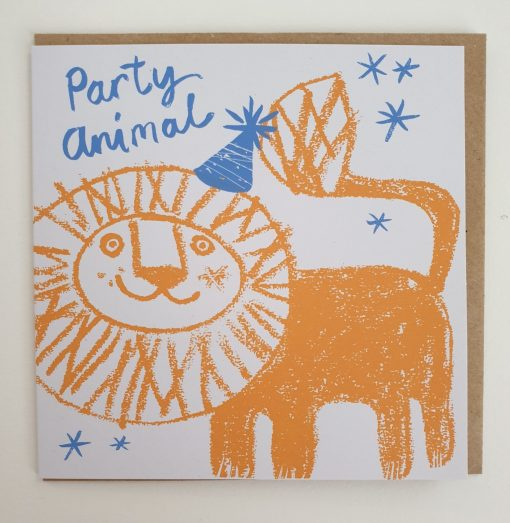 Party animal card by Lisa Stubbs