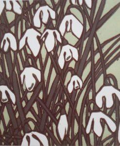 Rachel Knowles Snowdrops card
