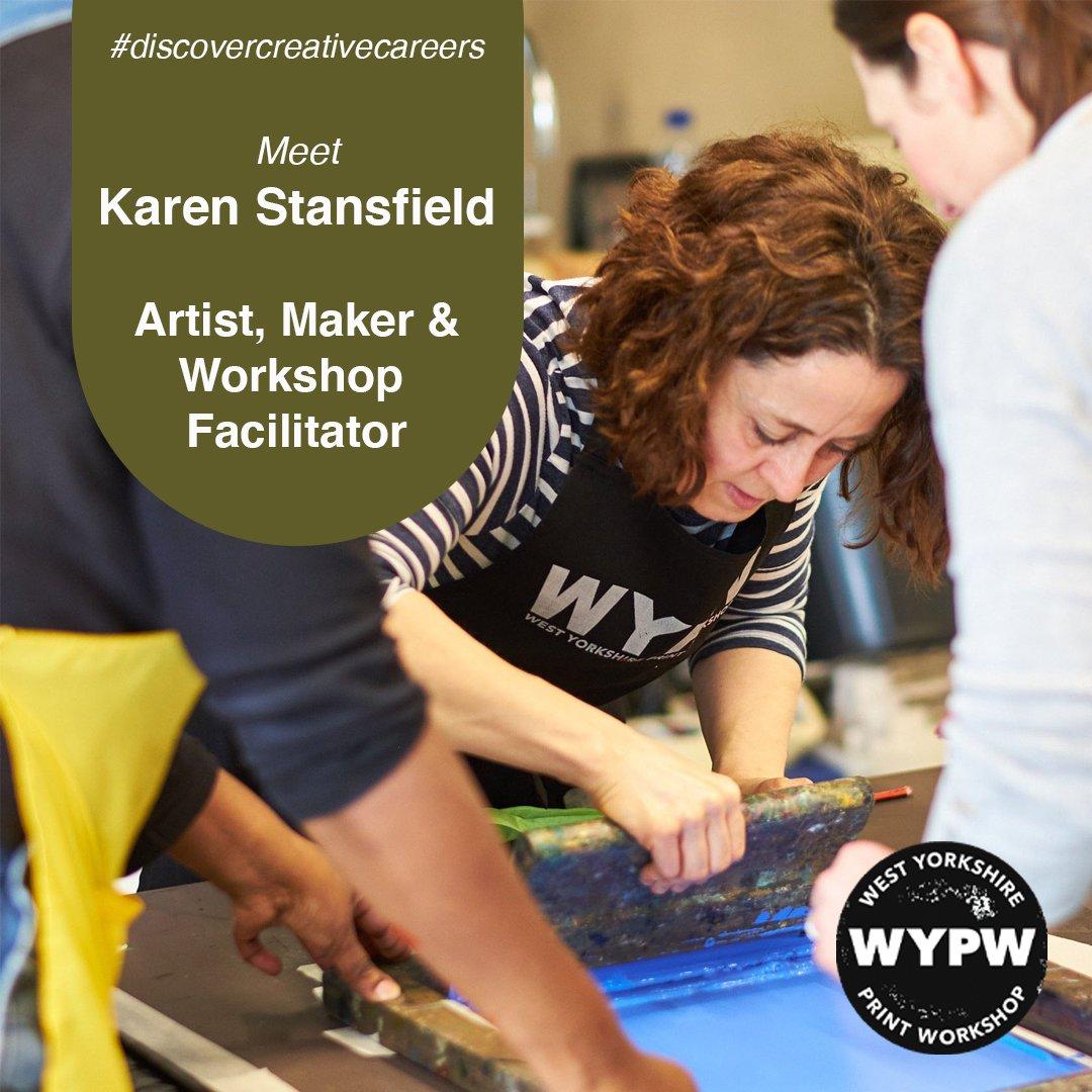 Karen teaching screen printing at The Hepworth, Wakefield.