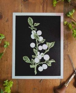botanical linocut